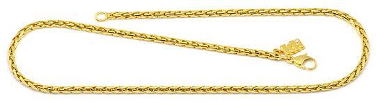 Foto 1, Zopf Goldkette massiv Gelbgold 18K750 Marke Kli Diamant, K2191