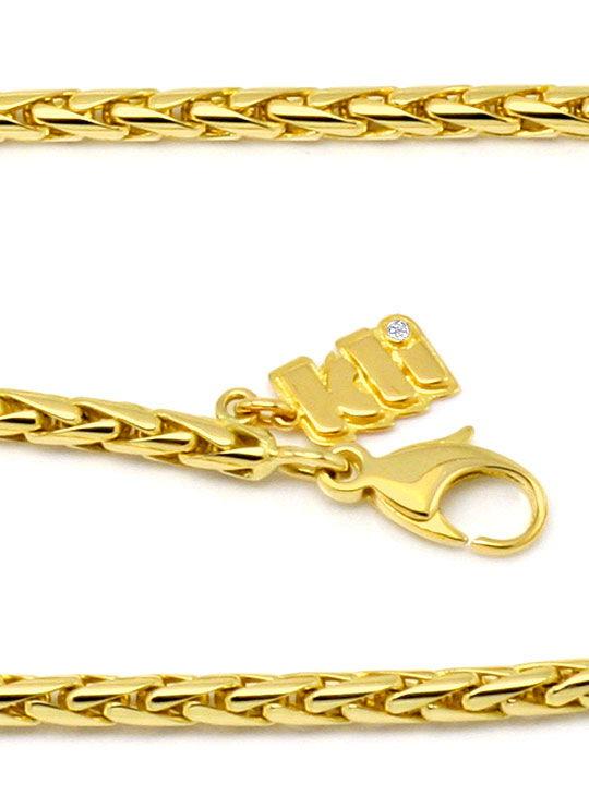 Foto 2, Zopf Goldkette massiv Gelbgold 18K750 Marke Kli Diamant, K2191