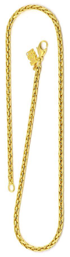 Foto 3, Zopf Goldkette massiv Gelbgold 18K750 Marke Kli Diamant, K2191
