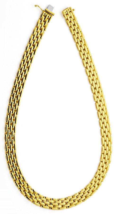 Foto 3 - Backstein Kollier Goldkette massiv Gelbgold 18K/750 Neu, K2195