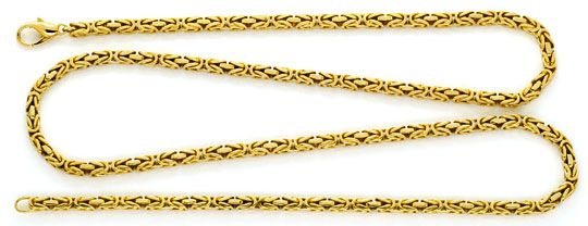 Foto 1, Königskette Goldkette massiv Gelbgold 14K/585 72cm Neu!, K2197