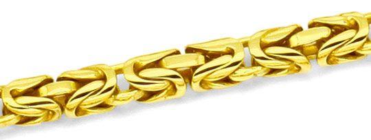 Foto 2, Königskette seltene runde Ausführung, Goldkette 18K/750, K2198