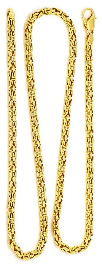 Foto 3 - Königskette seltene runde Ausführung, Goldkette 18K/750, K2198