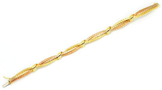 Foto 1, Goldkollier Goldarmband, Gelbgold Weissgold Rotgold 14K, K2203