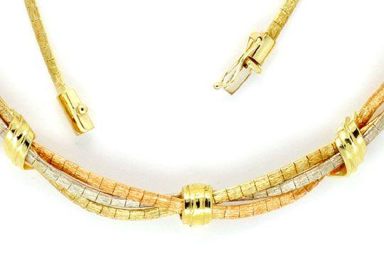 Foto 3, Goldkollier Goldarmband, Gelbgold Weissgold Rotgold 14K, K2203