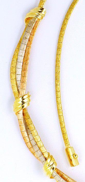 Foto 4, Goldkollier Goldarmband, Gelbgold Weissgold Rotgold 14K, K2203