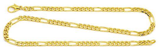 Foto 1, Figaro Flachpanzer Goldkette achtseitig geschliffen 14K, K2204