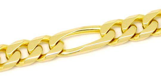 Foto 2, Figaro Flachpanzer Goldkette achtseitig geschliffen 14K, K2204