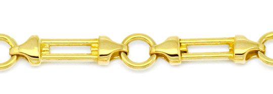 Foto 2, Designer Säulen Phantasie Goldkette massiv Gelbgold 14K, K2205