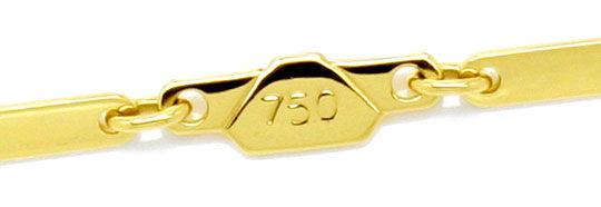 Foto 2, Designer Plättchen Gold-Kette Länglich Gelbgold 18K/750, K2206