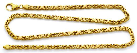 Goldkette  Königskette Goldkette massiv Gelbgold 14K/585 Karabiner, K2208