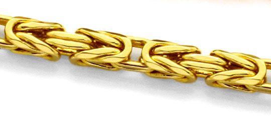 Foto 2, Königskette Goldkette massiv Gelbgold 14K/585 Karabiner, K2208