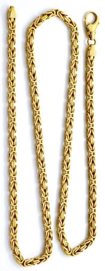 Foto 3 - Königskette Goldkette massiv Gelbgold 14K/585 Karabiner, K2208