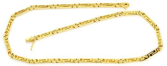 Foto 2, Designer Mäander Goldkette und Armband massiv Gelb-Gold, K2210