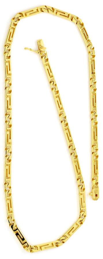 Foto 4 - Designer Mäander Goldkette und Armband massiv Gelb Gold, K2210
