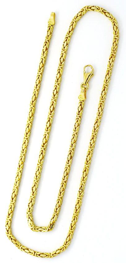 Foto 4, Königskette und Armband Königskette Gelbgold 14K massiv, K2219