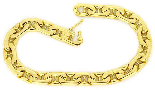 Foto 1 - Set Goldkette Goldarmband gewölbte Steg Flachpanzer 14K, K2221