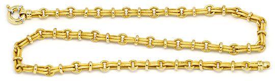 Foto 1, Design-Gold-Kette Doppel-Achter 3D-Rauten Ringe 14K/585, K2223