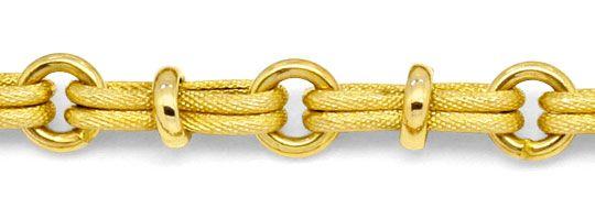 Foto 2 - Design Gold Kette Doppel Achter 3D Rauten Ringe 14K/585, K2223
