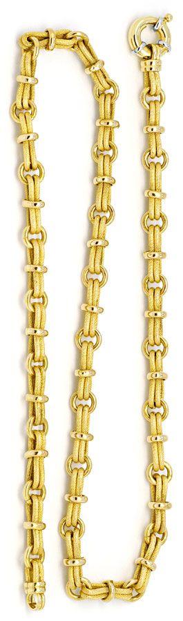 Foto 3, Design-Gold-Kette Doppel-Achter 3D-Rauten Ringe 14K/585, K2223