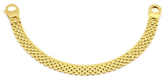 Foto 1, Designer Backstein Gold-Armband Riesen-Karabiner Luxus!, K2224