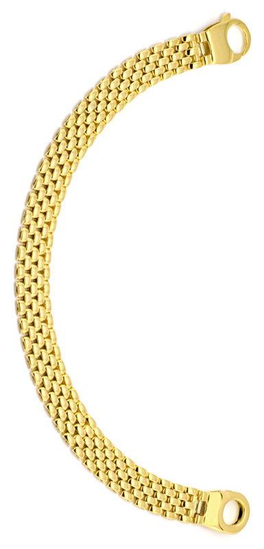Foto 2, Designer Backstein Gold-Armband Riesen-Karabiner Luxus!, K2224