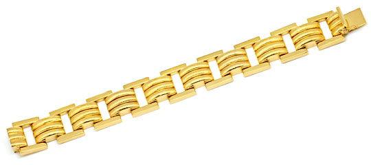 Foto 1, Phantasie Designer Goldarmband Gelbgold Graviert Luxus!, K2226