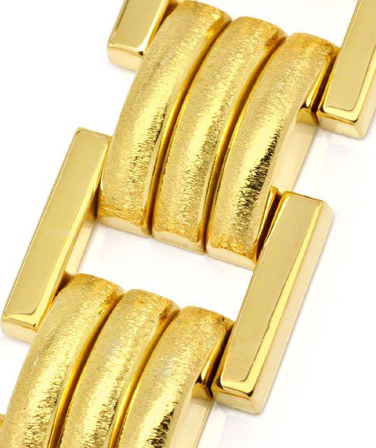 Foto 2 - Phantasie Designer Goldarmband Gelbgold Graviert Luxus!, K2226