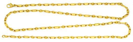 Foto 1, Massive Gold-Kette Bohnen Marina Schiffsanker Plättchen, K2227
