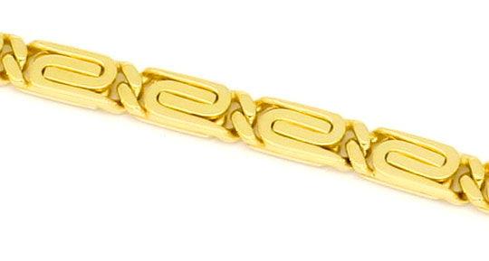 Foto 2, Massive S-Flachpanzre Kette Goldkette Kollier Gelb-Gold, K2229