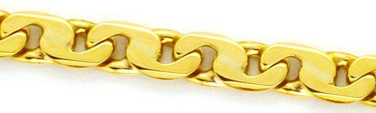 Foto 2, Achter-Flachpanzer-Kette Gold-Kette massiv Gelbgold 14K, K2231