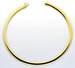 Foto 1, Omega Kette Goldkette Kollier Collier Gelb-Gold 14K/585, K2232