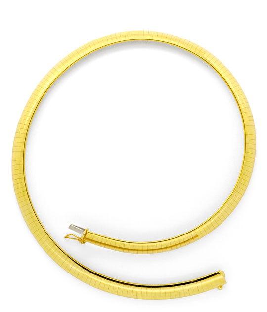 Foto 3, Omega Kette Goldkette Kollier Collier Gelb-Gold 14K/585, K2232