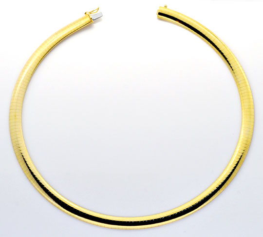 Foto 4, Omega Kette Goldkette Kollier Collier Gelb-Gold 14K/585, K2232