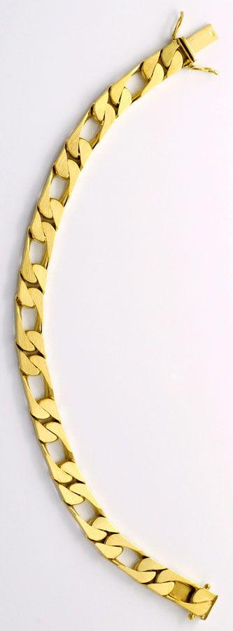 Foto 3, Figaro Flachpanzer Goldarmband mattiert massiv Gelbgold, K2238