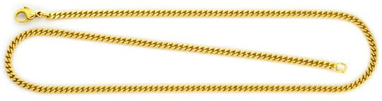 Foto 1 - Flachpanzer Kette Goldkette massiv Gelbgold 14K/585 Neu, K2239