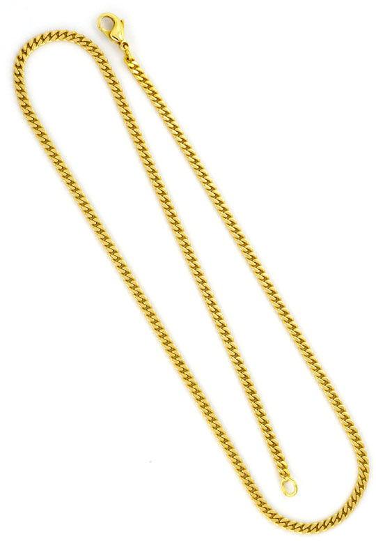 Foto 3 - Flachpanzer Kette Goldkette massiv Gelbgold 14K/585 Neu, K2239