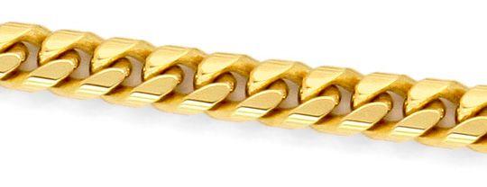 Foto 2 - Gewoelbte Flachpanzer Kette, massive Gelbgold Goldkette, K2243