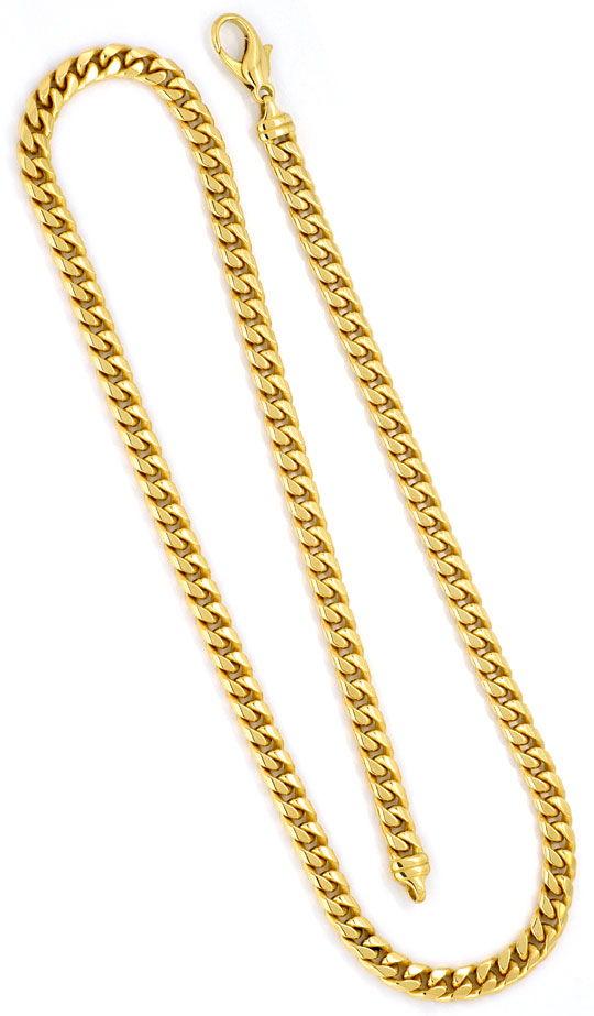 Foto 3 - Gewoelbte Flachpanzer Kette, massive Gelbgold Goldkette, K2243