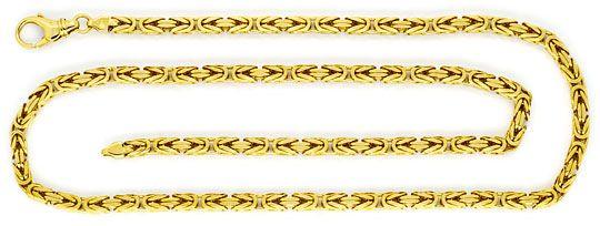 Foto 1 - Königskette Goldkette massiv 14K Gelbgold Karabiner Neu, K2245