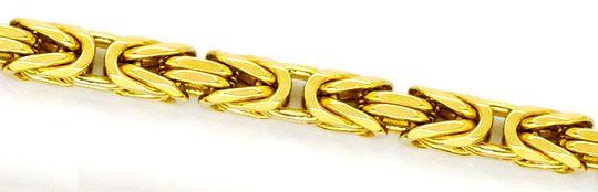 Foto 2 - Königskette Goldkette massiv 14K Gelbgold Karabiner Neu, K2245