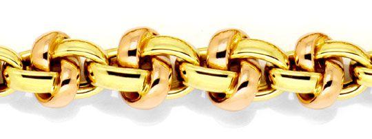 Foto 2 - Knoten Kollier Gold Collier im Verlauf Gelbgold Rotgold, K2247