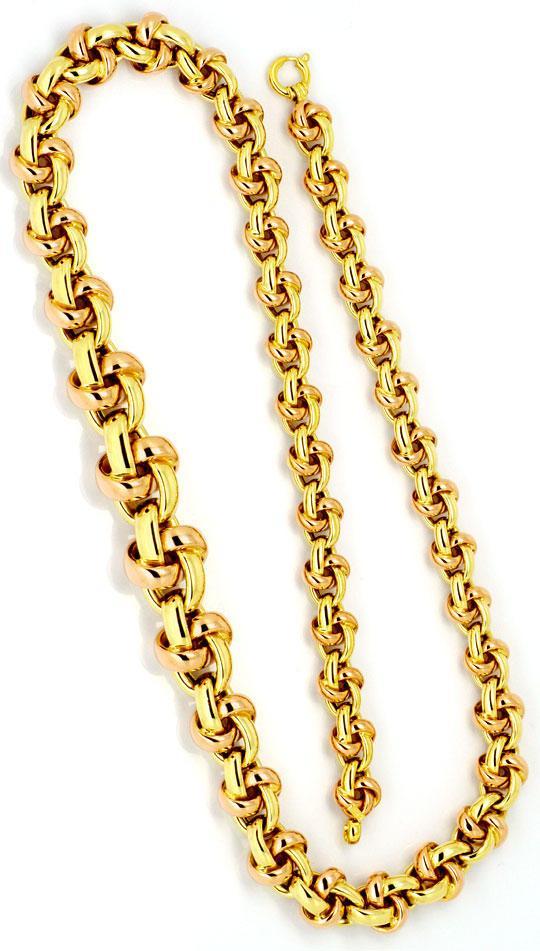 Foto 3 - Knoten Kollier Gold Collier im Verlauf Gelbgold Rotgold, K2247