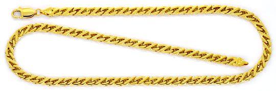 Foto 1 - Dollarkette massiv Gelbgold 18K/750 Goldkette Karabiner, K2248