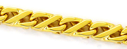 Foto 2 - Dollarkette massiv Gelbgold 18K/750 Goldkette Karabiner, K2248