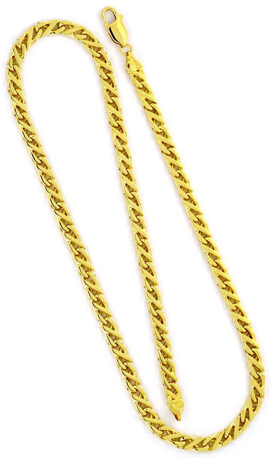 Foto 3 - Dollarkette massiv Gelbgold 18K/750 Goldkette Karabiner, K2248