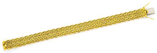 Foto 1 - Armband Designer Fischgrätmuster Goldarmband massiv 14K, K2251