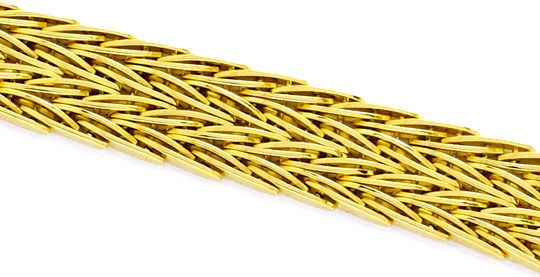 Foto 2 - Armband Designer Fischgrätmuster Goldarmband massiv 14K, K2251
