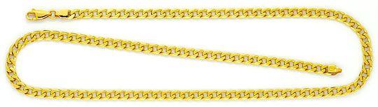 Foto 1 - Flachpanzer Kette Goldkette massiv Gelbgold 18K/750 Neu, K2252