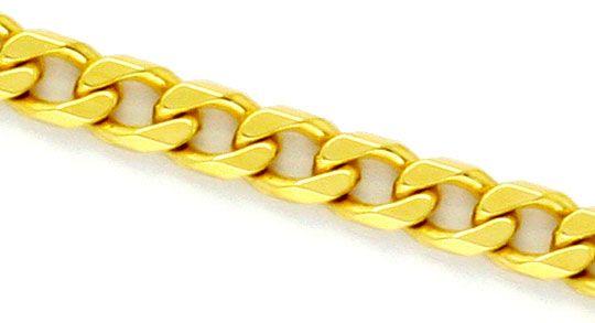 Foto 2 - Flachpanzer Kette Goldkette massiv Gelbgold 18K/750 Neu, K2252